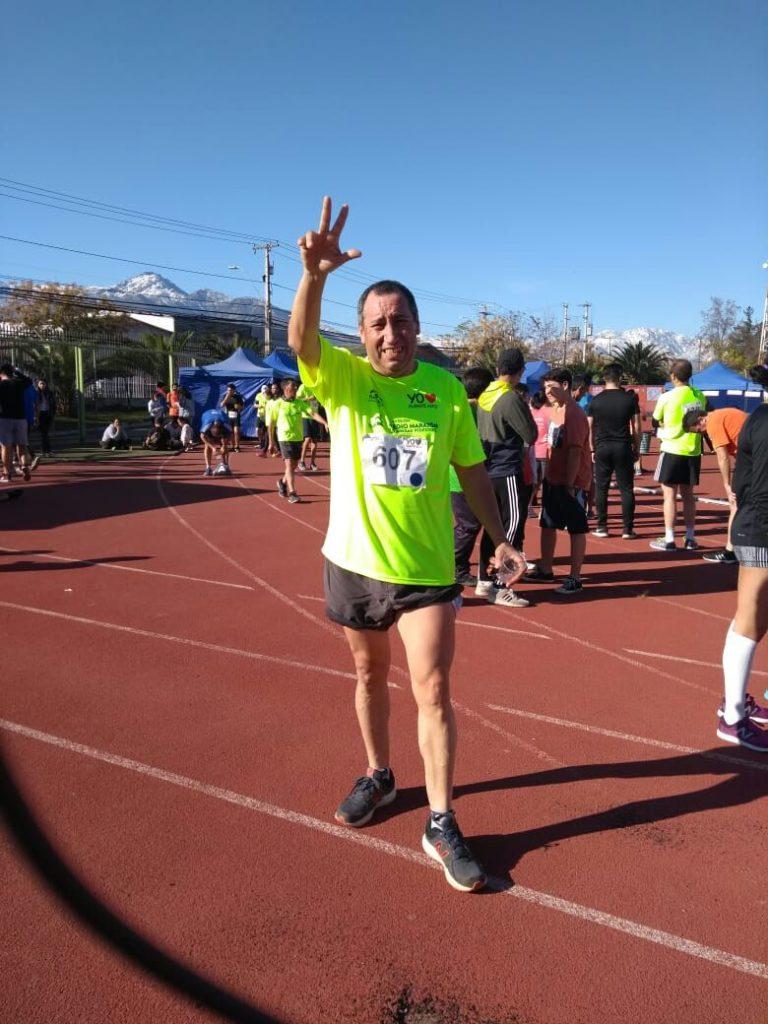 Marcelo Caro un Puentealtino de Tomo y Lomo, Destacado Maratonista