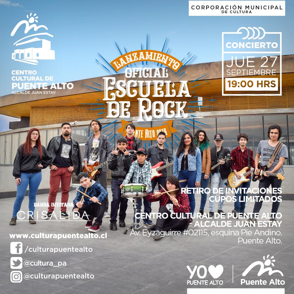 Lanzamiento oficial Escuela de Rock de Puente Alto.